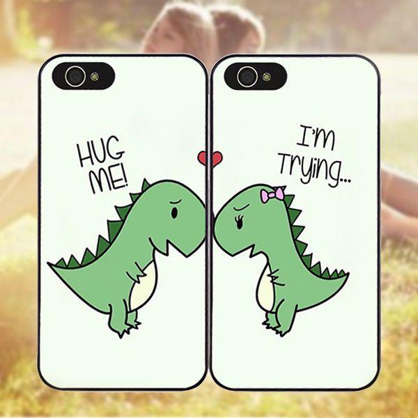 6 64 Chk 1 Pair Cute Dinosaur Best Friend Cover Case For Iphone 6s 7 8 6 Plus X 5s 5c Ebay Diy Phone Cases Iphone Bff Phone Cases Iphone Friends Phone Case