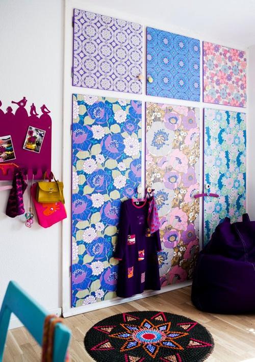 ~Gave manier van kast-decoratie met vintage behang~