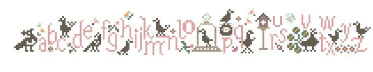 Un Jour à Broder: Des Oiseaux dans mon jardin