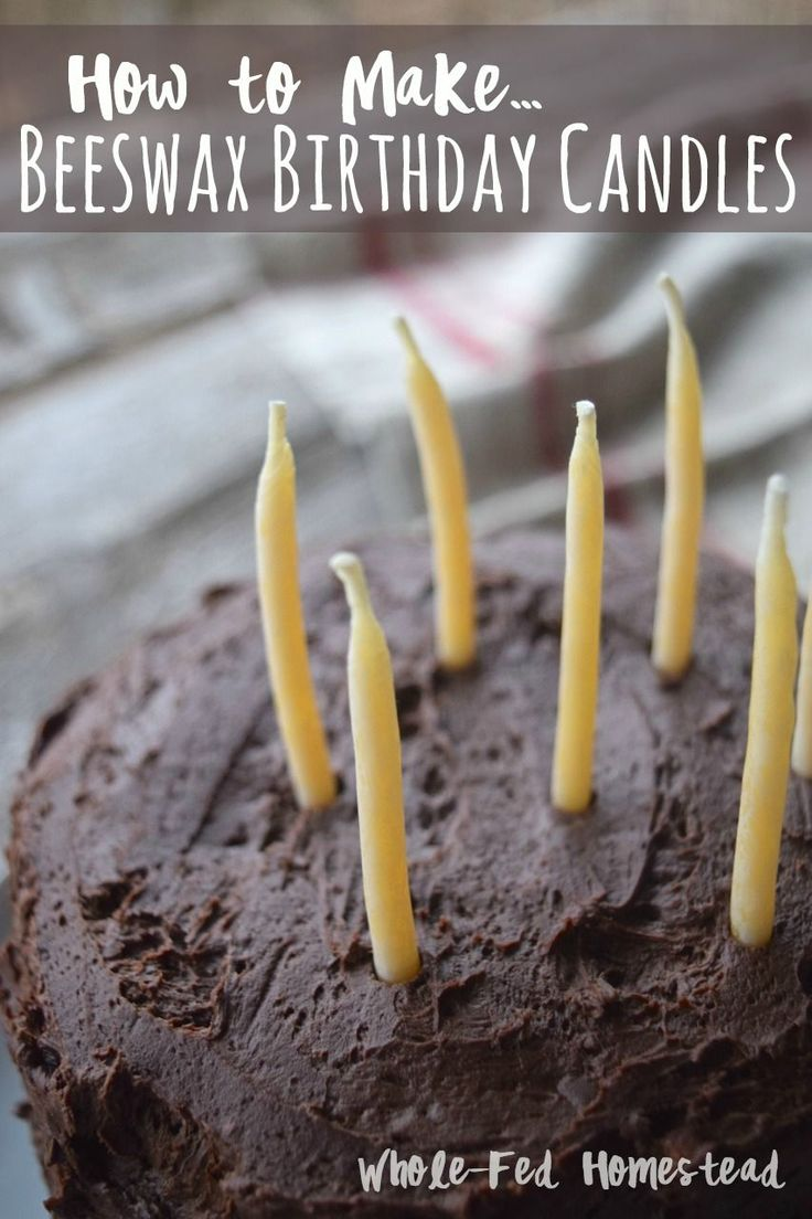 How to Make Beeswax Birthday Candles - handmade hand-dipped, the Cadillac of Birthday Candles! Natural candles. | Whole-Fed Homestead