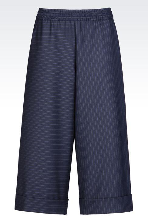 PANTALONE CROPPED GESSATO: Pantaloni capri Donna by Armani - 1