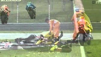 Marco Simoncelli Crash In Sepang Malaysia - YouTube