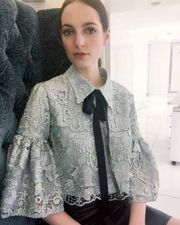 Grey embroidery blouse