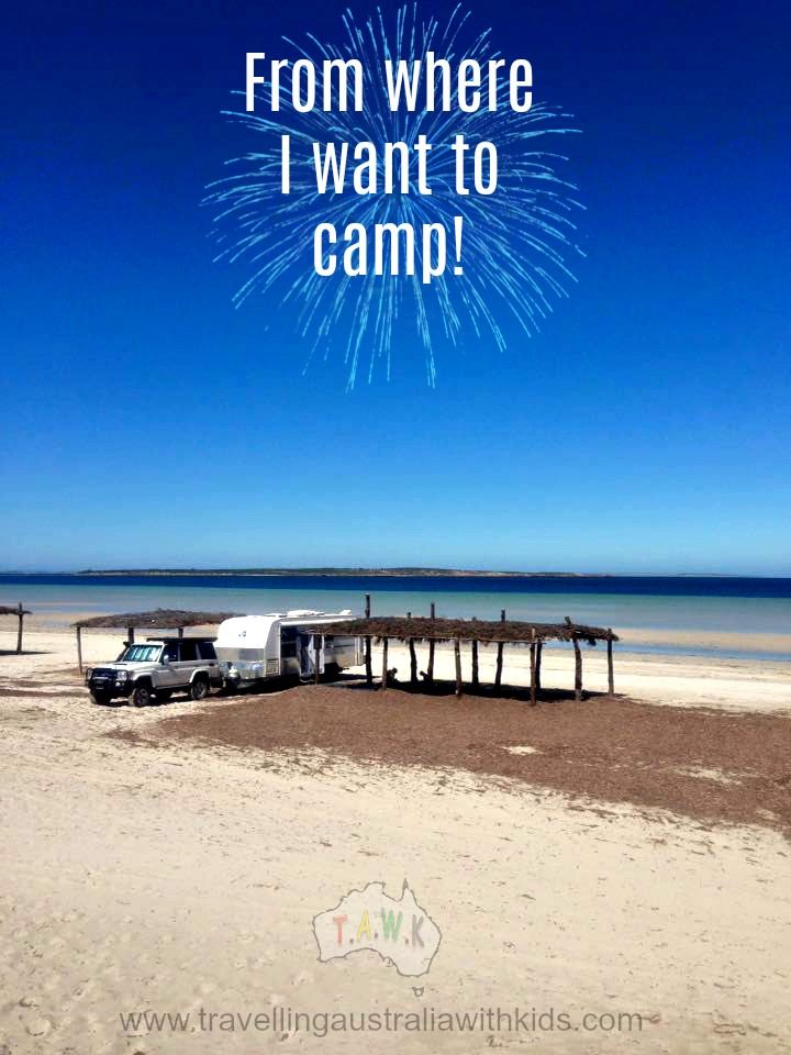 Purlubie Beach, Eyre Peninsula is where one of our travelling families free camped with children.  Find more on our site Pic: Kim Kennedy