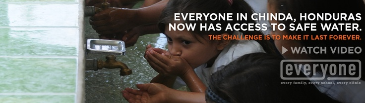 No one should be without safe clean drinking water.