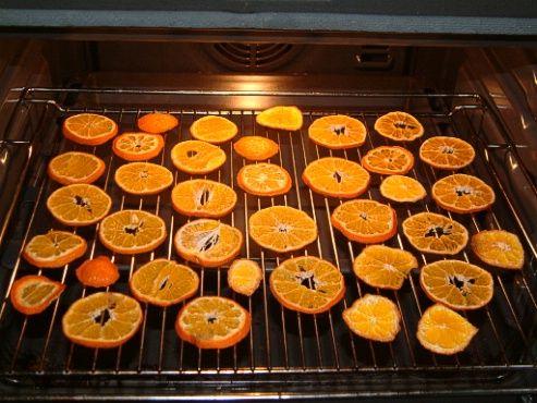 Oranges séchées maison : four à 90°C pendant 2 heures environ