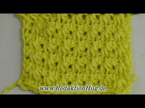 Tunisian Crochet - Gold Rush B (IN GERMAN - If you are familiar with Tunisian Crochet you can watch this video to learn this stitch... The video is very good... Deb)