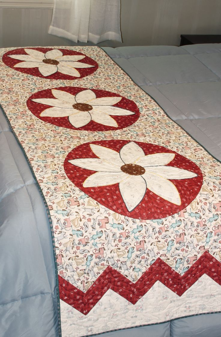 Summer Fun Bed runner quilt pattern by Whimsicals