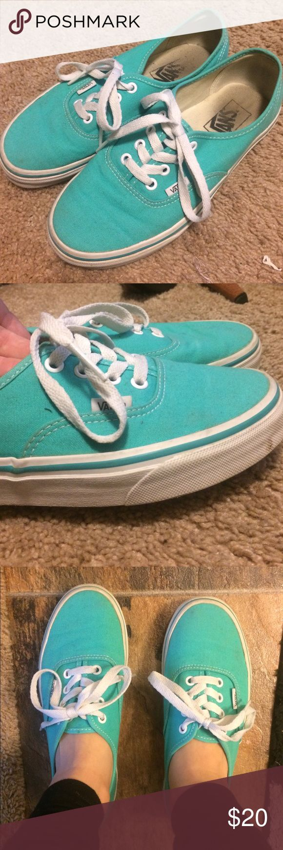 Teal vans Great condition soles are not worn whatsoever. Only wore them no more than 10 times. !!Accepting any offers!! Vans Shoes Sneakers