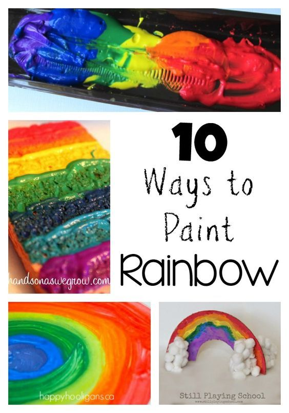10 Creative Ways to Paint Art Rainbows for Kids