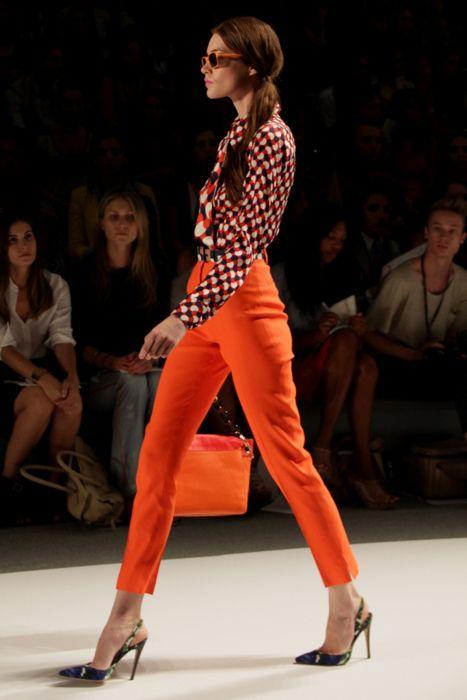 Awesome high waisted orange trousers