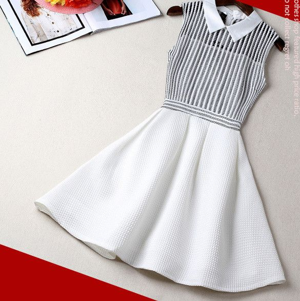 #715 Slim Thin Sleeveless A-line Dress
