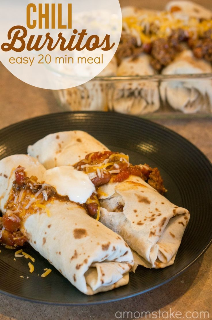 Easy chili cheese burritos - fast 20 minute dinner idea the kids will devour! Perfect football tailgating recipe! AD @mccormickspice