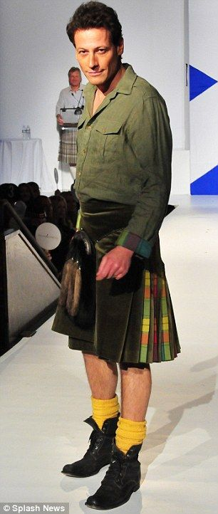 Ioan Gruffudd - born 6 October 1973 Llwydcoed, Aberdare, Cynon Valley, Wales, don't know why he is wearing a kilt and I don't care.