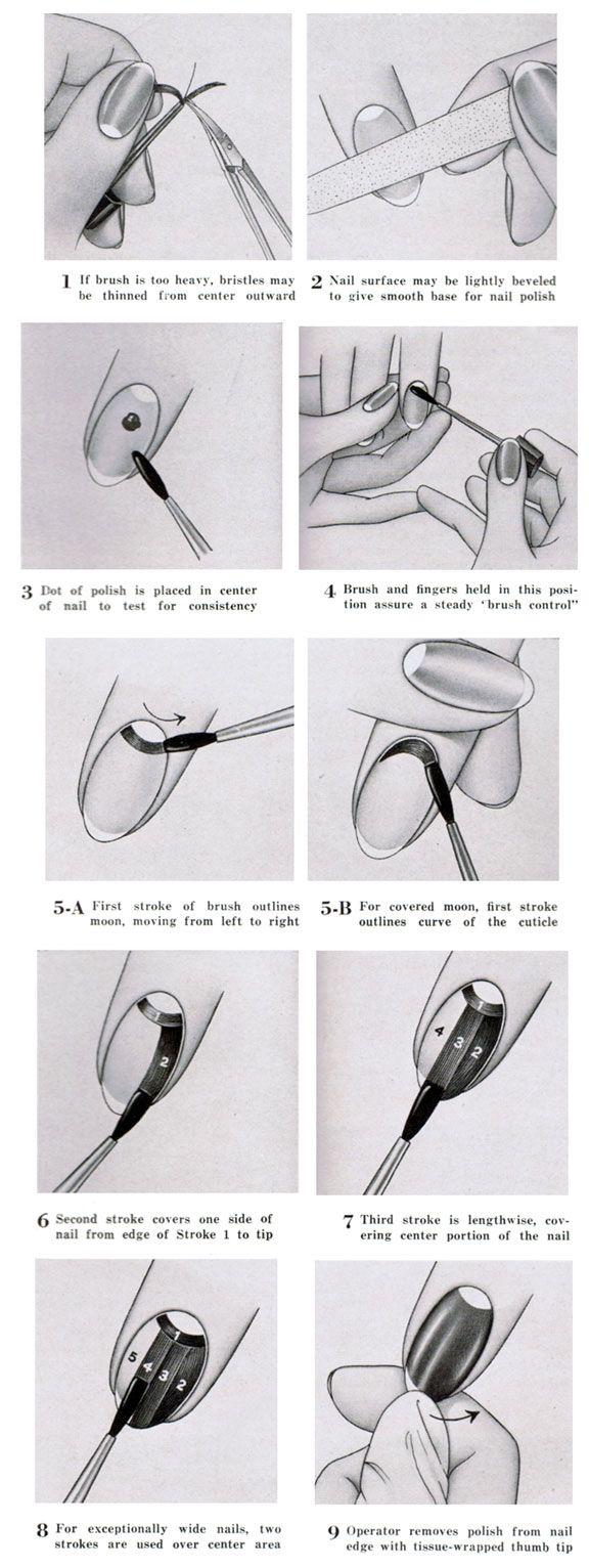 1940's vintage moon manicure                                                                                                                                                                                 More