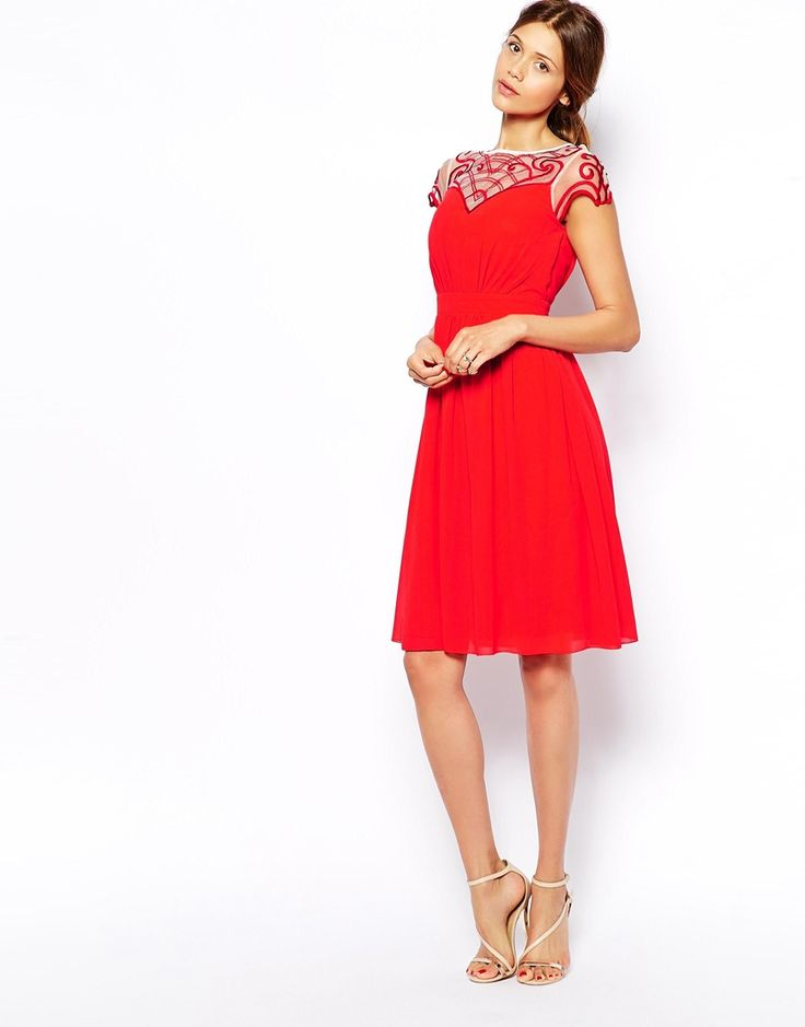 Little Mistress Prom Dress With Embroidered Sleeve