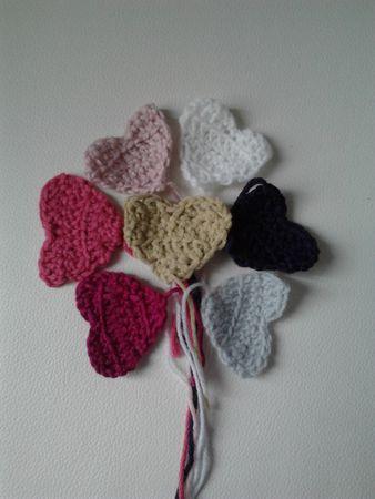 7 petits coeurs pour nos noces de laine