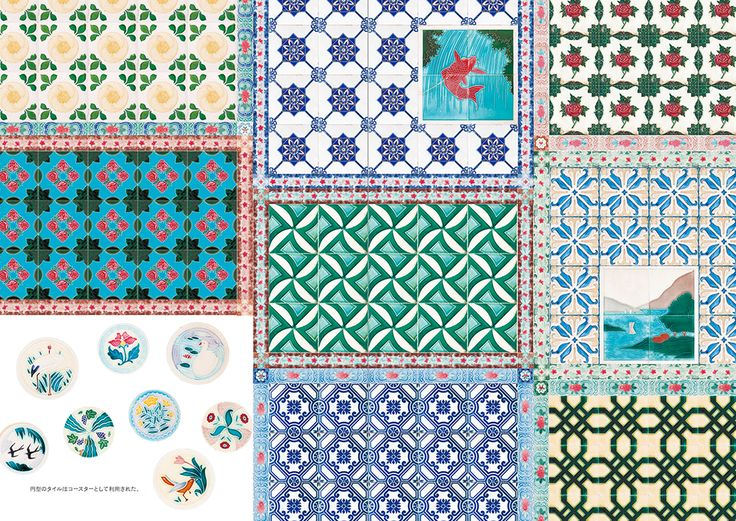 """Inside page of """"Sweet and Nostalgic Designs in Japan: Handcrafts, Graphics, Architecture and More"""" #Pattern"""