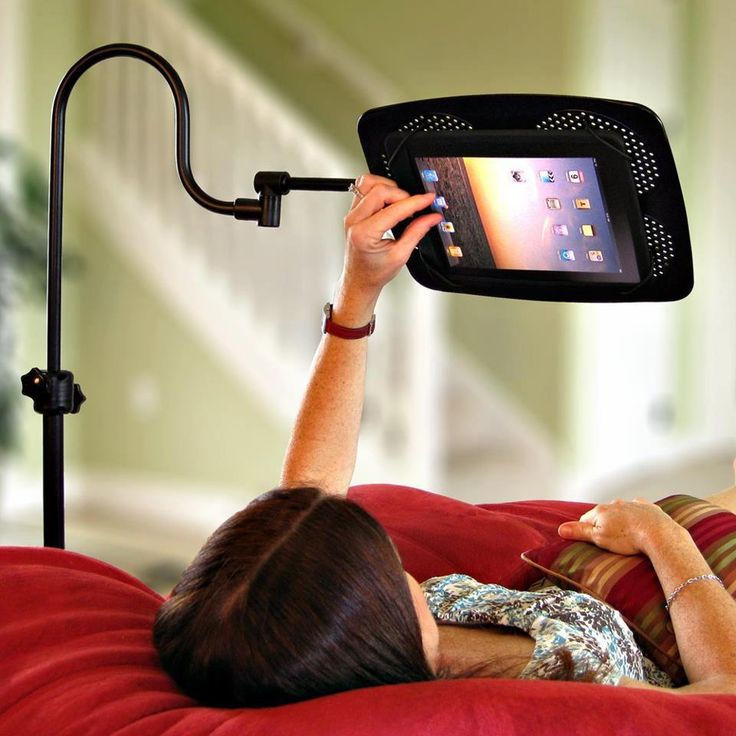 iPad holder - pretty awesome! Got to find this. bb
