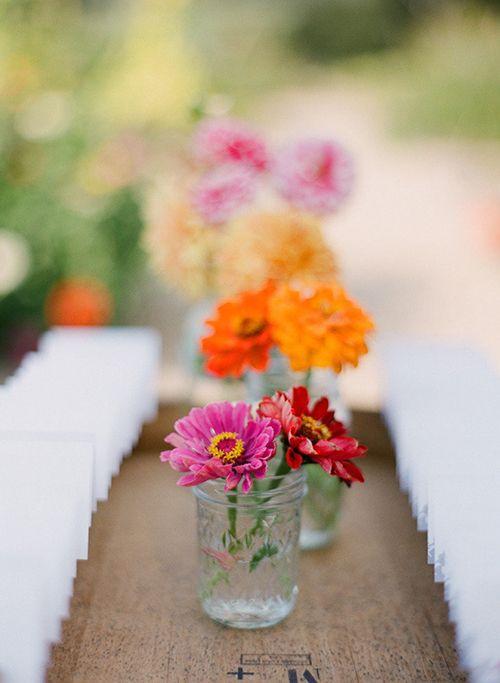 Brides: Zinnia Wedding Bouquet and Flower Ideas: In Season Now