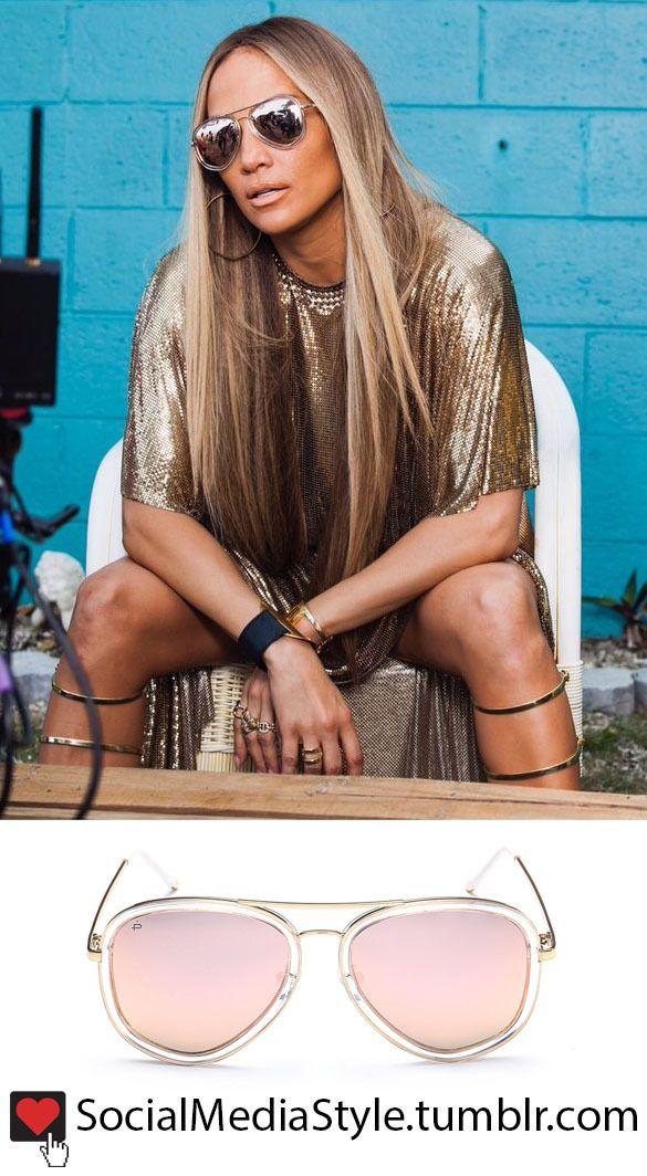 "Buy Jennifer Lopez's aviator sunglasses from the ""Ni Tú Ni Yo"" music video, here!"