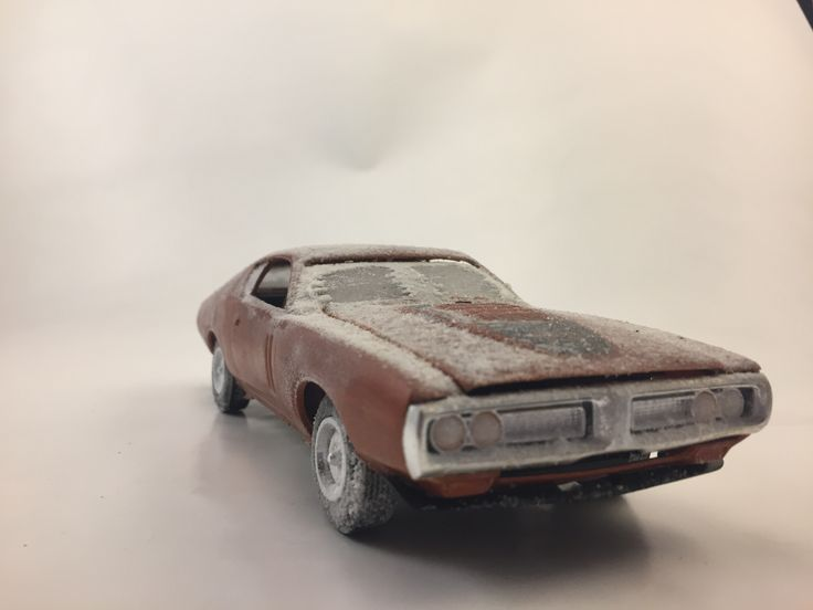 1971 Dodge Charger with snow on it.