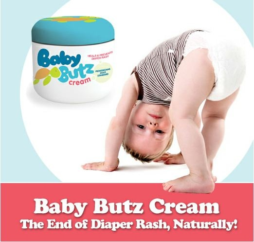4 oz Baby Butz Diaper Rash Cream