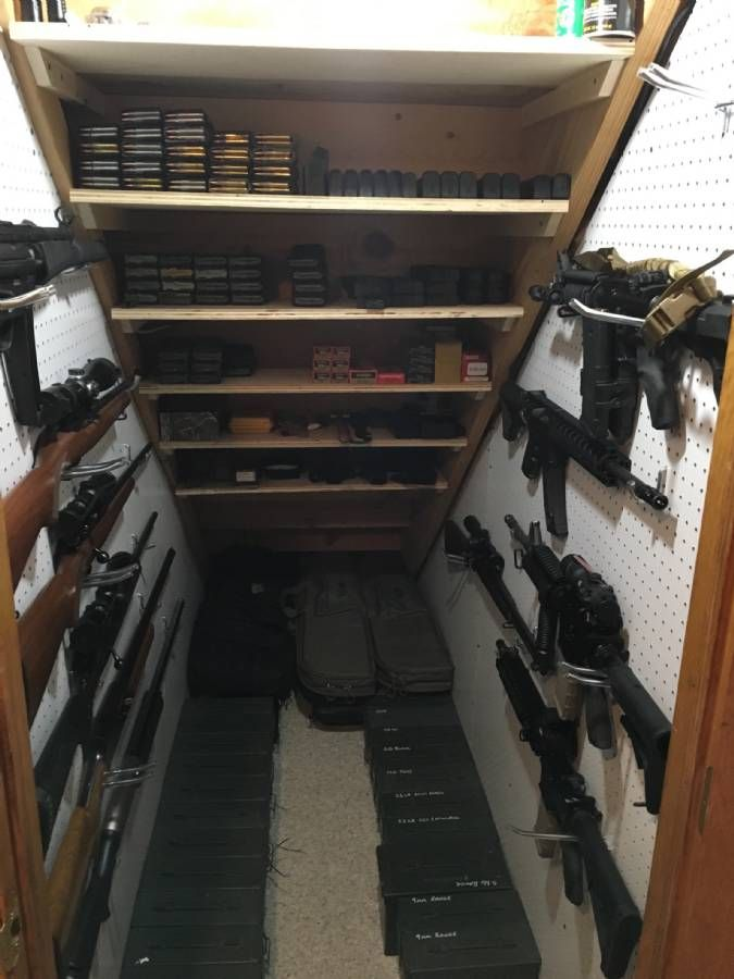 Best 25 hidden gun ideas on pinterest gun storage for How to build a gun safe room