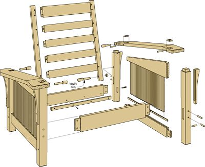 Morris Chair Plans | Take A Closer Look: Morris Chair U0026 Ottoman Woodworking  Plan