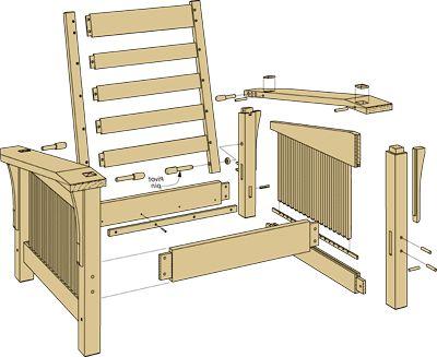 Morris chair plans take a closer look morris chair for Craftsman furniture plans