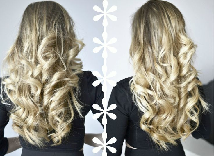 długie falowane włosy