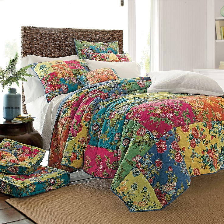 Love how colorful!  Lia Quilt | The Company Store