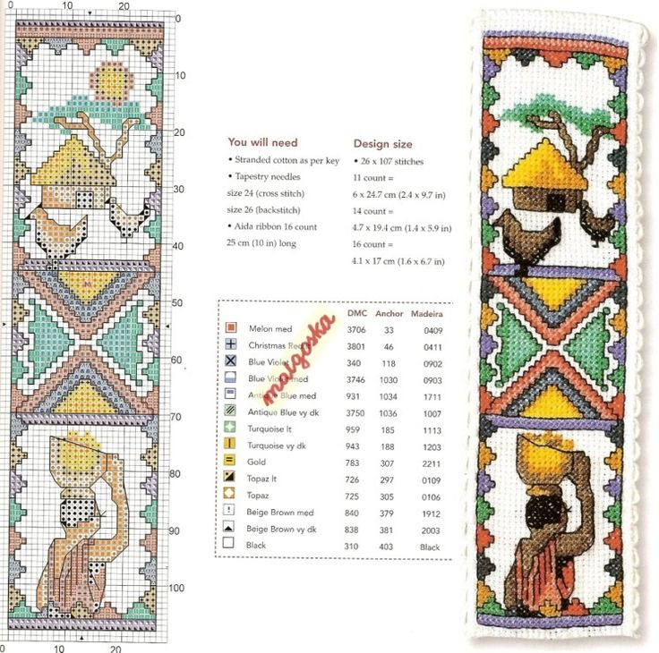 Crocheted Cross Bookmarks Patterns