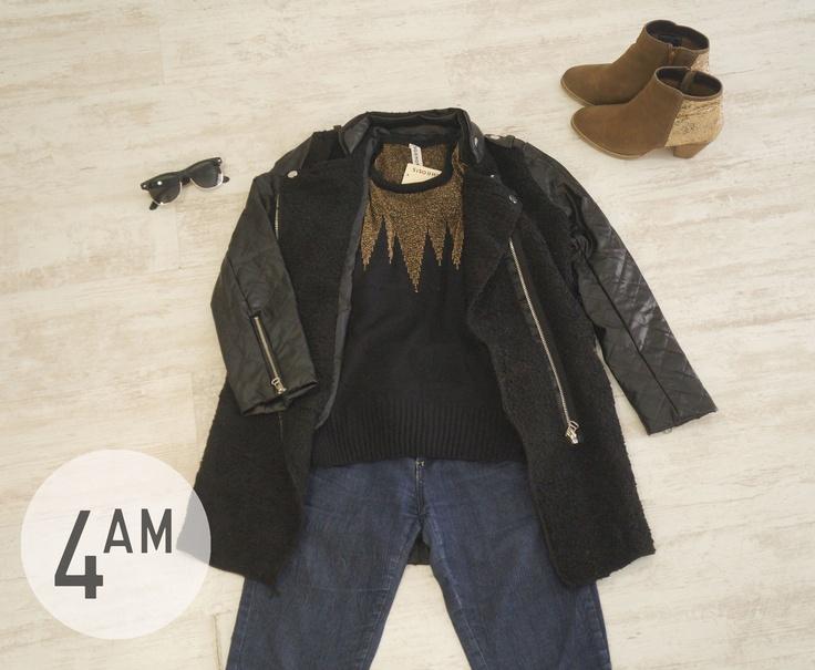 abrigo y sweater 4AM