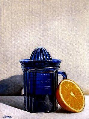 """""""Antique Orange Juicer"""" - Original Fine Art for Sale - © Jelaine Faunce"""