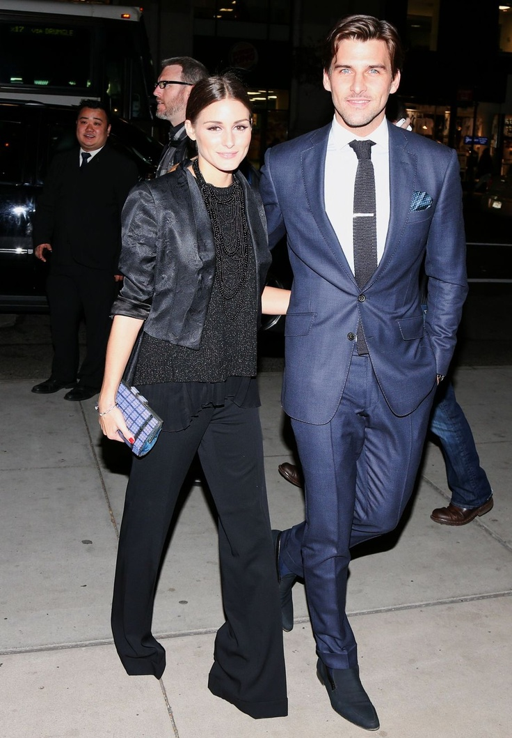 Olivia Palermo and Johannes Huebl at the Harry Winston dinner for Jessica Chastain at The Leading Hotels  in New York City