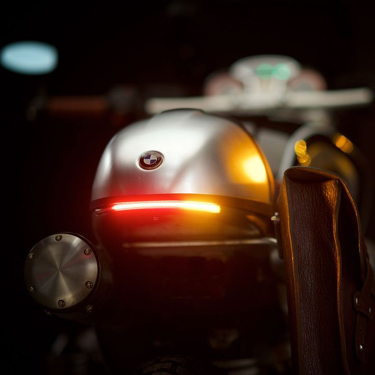Flexible LED Turn and Brake Taillight on the Revival Cycles Bison