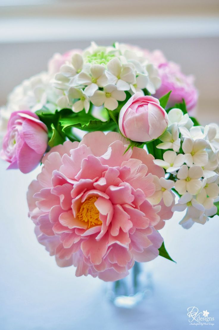 592 best gumpaste flowers images on pinterest sugar flowers dk designs a custom bouquet of flowers for a client to arrange in her beautiful izmirmasajfo
