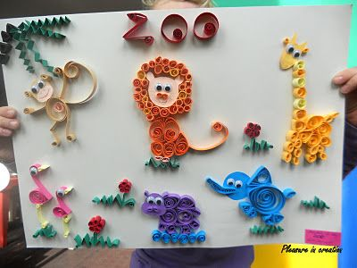 Quilling with kids