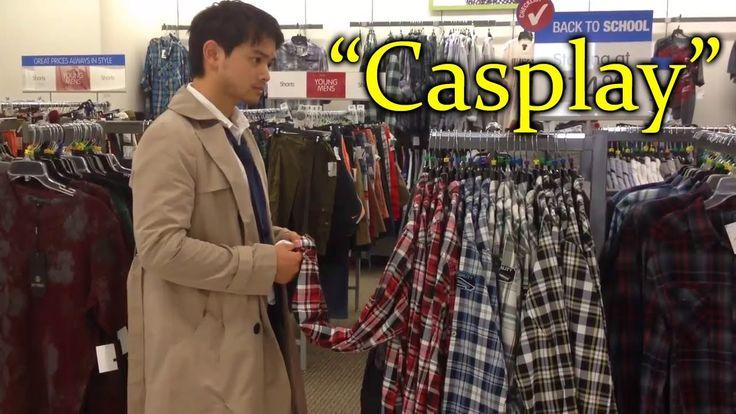 """Osric Chau (Kevin) Cosplay do Castiel em shopping """"Casplay"""""""