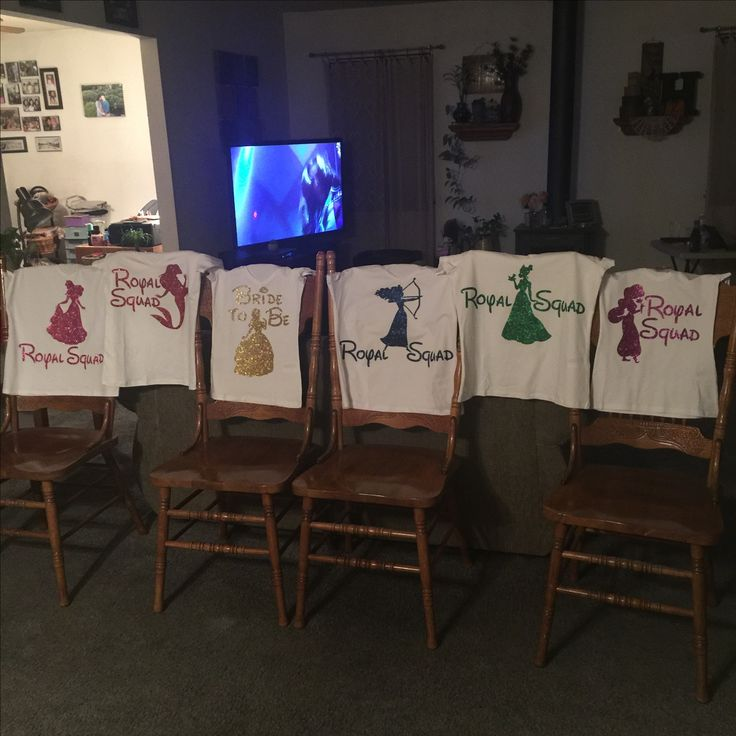 Disney princess bachelorette party shirts