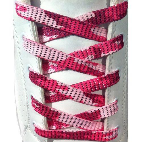 Les lacets rose Militaire Scintillant sont ludiques et très appréciés par les filles ! Disponible avec la largeur 10mm, légèrement plus large que les lacets réguliers vendues sur le marché avec de nouvelles chaussures. La texture est chatoyante, mais vous ne pouvez pas vraiment voir cela sur la photo. Vous devez absolument voir les lacets de prés pour bien les apprécier !