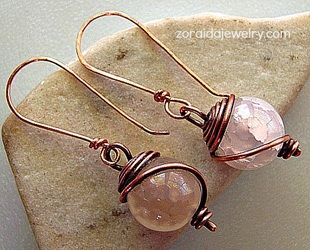 Simple but beautiful wire-wrapped earrings