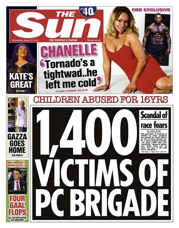 In Groot Brittannië is weer een kolossaal moslim pedo netwerk boven water gekomen. Op enorme schaal werden zeer jonge meisjes jarenlang verkracht, geslagen, ...