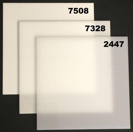 Sample White Acrylic Sheet - Cast