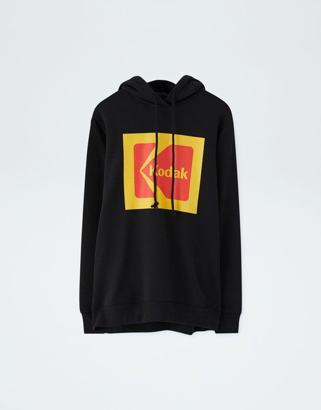 f0f95419f1a Kodak hoodie - pull bear