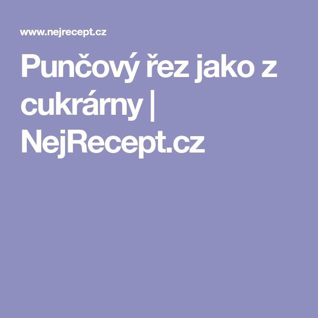 Punčový řez jako z cukrárny | NejRecept.cz