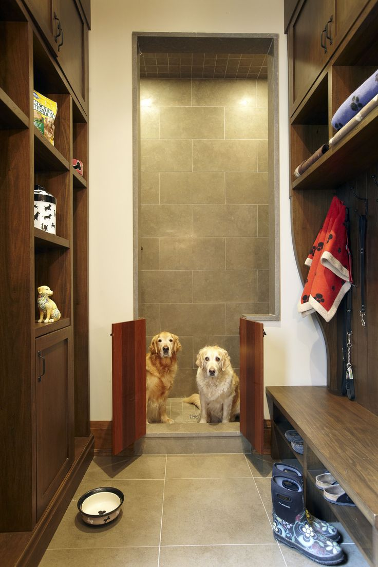 """A Transitional Style Great Room By Parkyn Design Www Parkyndesign Com: This Would Double As A Great Wet Room For My Farmer Husband And The Dogs! Dog Shower By """"Parkyn"""