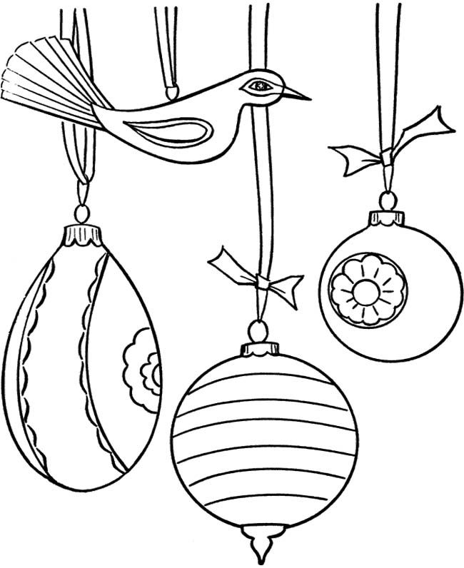 christmas tree ornaments coloring pages - photo #4