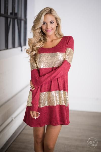 Life's A Party Sequin Tunic - Red